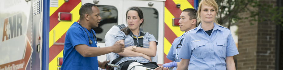 EMT Helping Patient