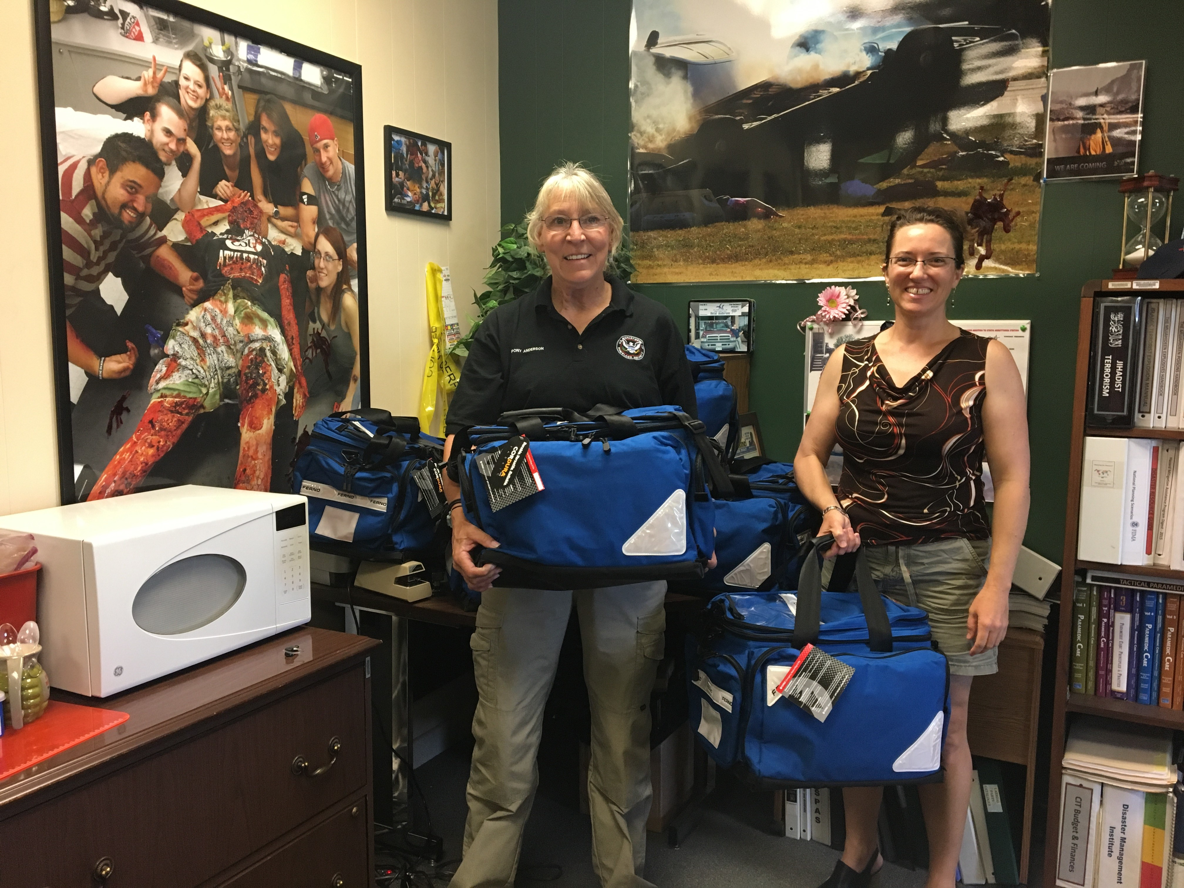 The Disaster Management Institute and Center for Simulation (Community College of Aurora) accepts donation of Ferno Bags